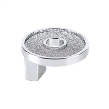 Small Round Knob With Hole Sparkling Swarovski Bright Chrome