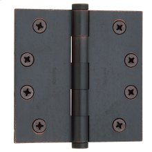 Distressed Venetian Bronze Square Corner Hinge