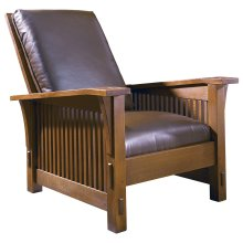 Tight Seat, Oak Spindle Morris Chair