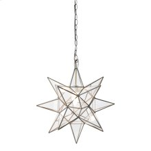 Large Clear Star Chandelier.
