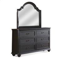 Belmeade Arch Mirror Raven Black finish Product Image