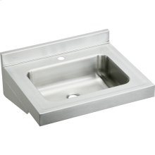 "Elkay Stainless Steel 22"" x 19"" x 5-1/2"", Wall Hung Lavatory Sink"