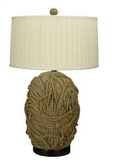 150W 3 way Terra Cotta Resin table lamp