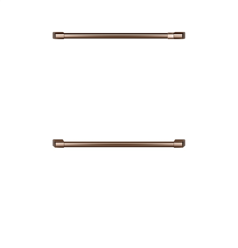 "Caf(eback) 2 - 30"" Double Wall Oven Handles - Brushed Copper