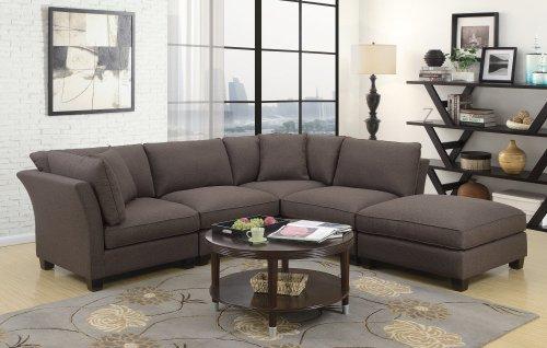 Emerald Home Arlington Corner W/1 Pillow Dark Brown U4172-14-05