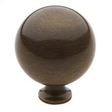 Satin Brass and Black Spherical Knob