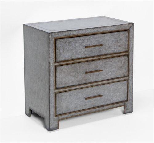 Carlton 3 Drawer Chest - Grey
