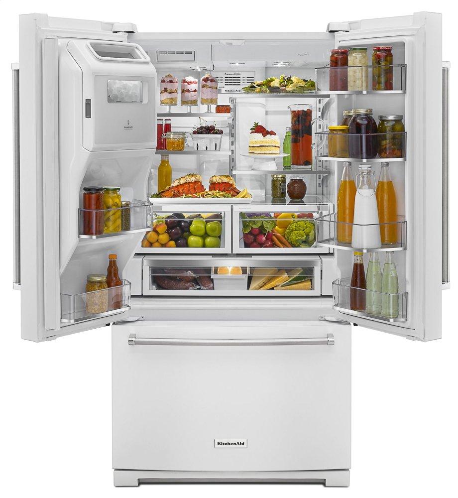 Kitchenaid 26.8 Cu. Ft. 36 Inch Width Standard Depth French Door  Refrigerator With