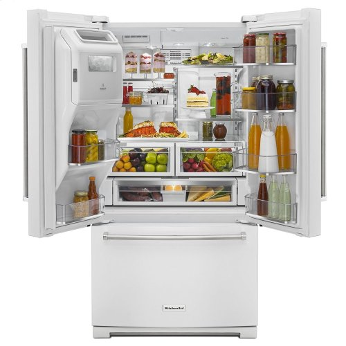 26.8 cu. ft. 36-Inch Width Standard Depth French Door Refrigerator with Exterior Ice and Water - White