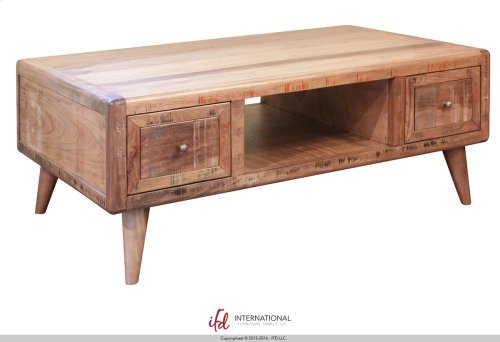 4 Drwer Cocktail Table