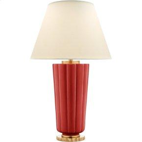 Visual Comfort AH3128BYR-PL Alexa Hampton Hopkins 31 inch 60 watt Berry Red Table Lamp Portable Light