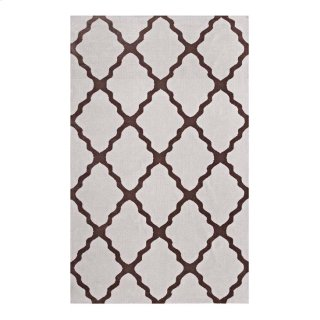 Marja Moroccan Trellis 5x8 Area Rug in Brown and Gray