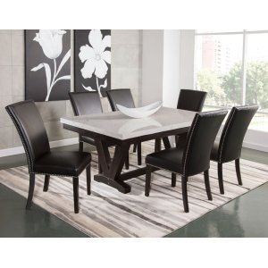 Steve Silver Co.Finley 7 Piece Marble Top Dining(Table & 6 Side Chairs)