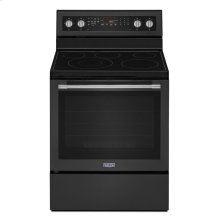 30-Inch Wide Electric Range With True Convection And Power Preheat - 6.4 Cu. Ft. Cast Iron Black