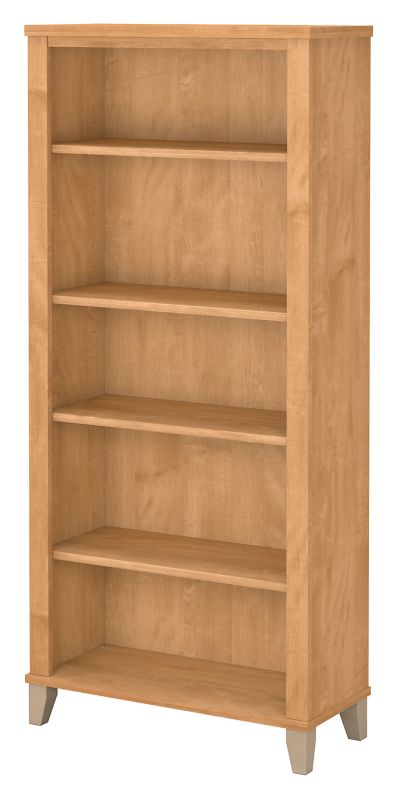 Somerset 5 Shelf Bookcase - Maple Cross