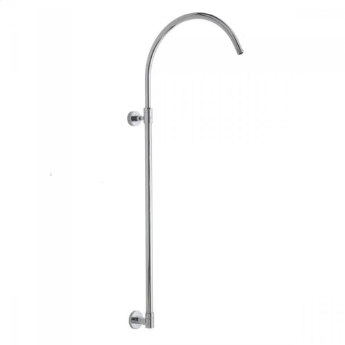Satin Nickel - Subway Line Hoop Exposed Pipe- No Slider or Diverter