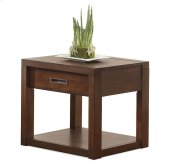 Riata Side Table Warm Walnut finish