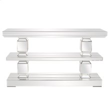 Mirrored 3 Shelf Console Table