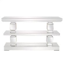 Mirrored 3 Shelf Console Table