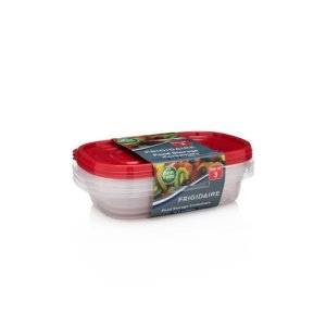 3-Pack 32oz Plastic Rectangular Storage Container -