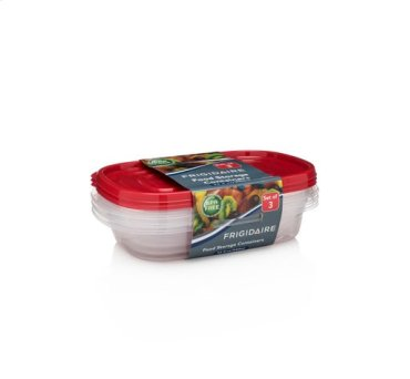 3-Pack 32oz Plastic Rectangular Storage Container