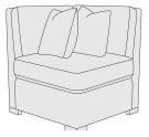 Germain Corner Chair in Mocha (751) Product Image