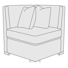 Germain Corner Chair in Mocha (751)