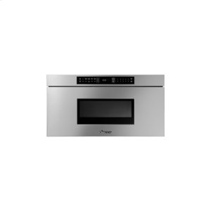 "DACORHeritage 24"" Microwave-In-A-Drawer, Silver Stainless Steel"