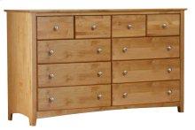 Alder Shaker 10 Drawer Dresser