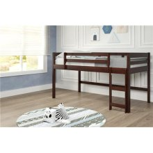 Pine Ridge Brown Low Loft Bed with options: Twin