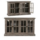 Hawthorne Estate 4 Door Windowpane Sideboard Rustic Driftwood Finish Product Image