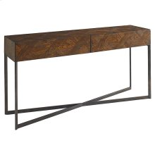 Hand Pieced Parquet Console Table