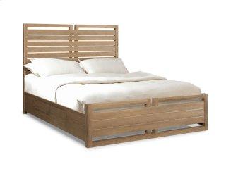 Hampton Panel Bed - Sand