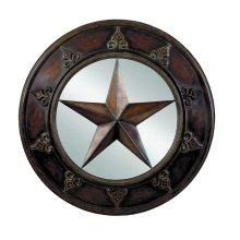 """Texas Star 32"""" Round Mirror"""