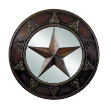 "Texas Star 32"" Round Mirror"