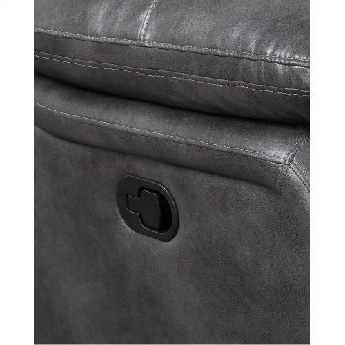 Emerald Home Navaro Motion Console Loveseat Gray U7120-09-03
