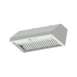 """48"""" Pro Wall Hood, 18"""" High, Silver Stainless Steel"""
