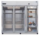 Refrigerator, Three Section Upright, Full Glass Door Product Image