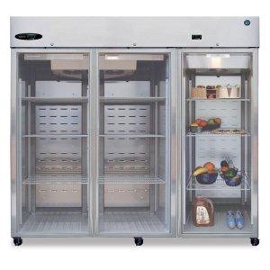HoshizakiRefrigerator, Three Section Upright, Full Glass Door