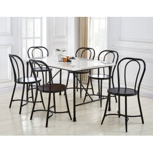 Steve Silver Co.Claire 7 Piece Marble Top Dining(Table & 6 Side Chairs)