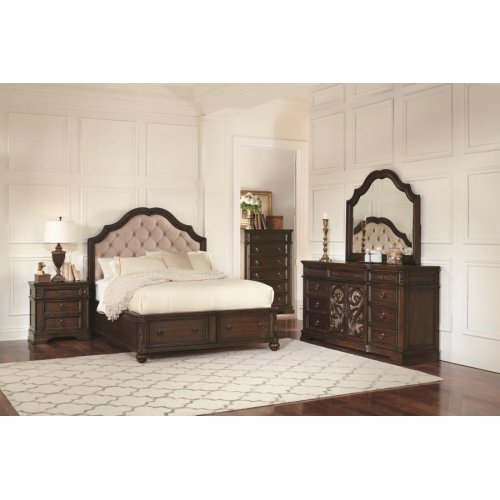 Ilana Traditional Antique Java California King Bed