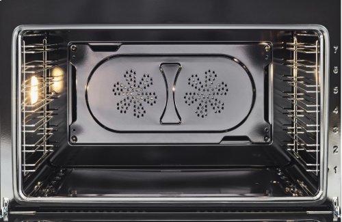 36 inch 5-Burner, Electric Oven Matt White