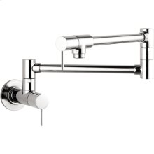 Chrome Starck Pot Filler, Wall-Mounted