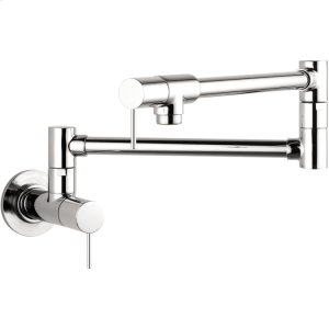 Chrome Starck Pot Filler, Wall-Mounted Product Image