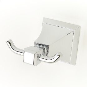 Double Robe Hook Leyden (series 14) Polished Chrome