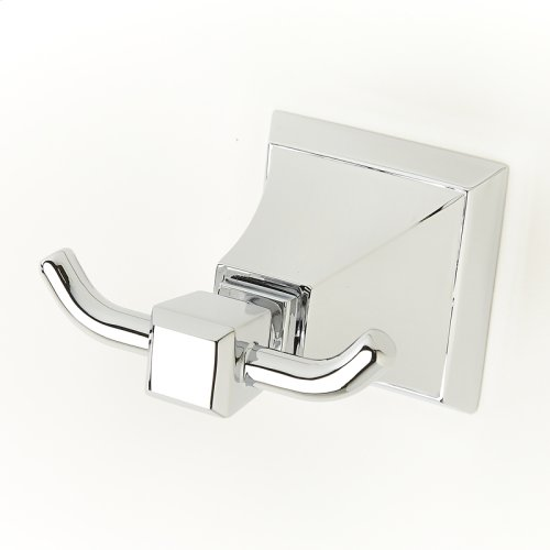 Double Robe Hook Leyden Series 14 Polished Chrome