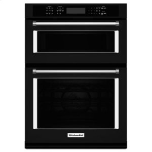 """KITCHENAID27"""" Combination Wall Oven with Even-Heat True Convection (lower oven) - Black"""