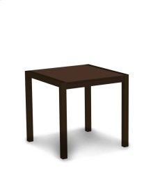 "Textured Bronze & Mahogany MOD 30"" Dining Table"
