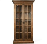 Hawthorne Display Cabinet Barnwood finish Product Image