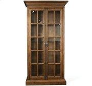 Hawthorne Display Cabinet Barnwood finish Product Image